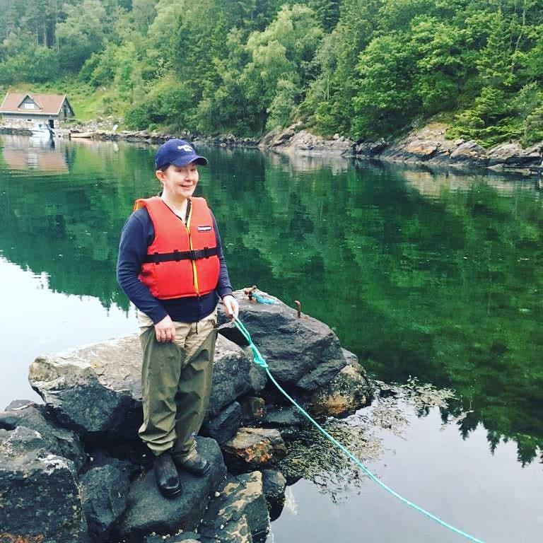 Fisking på Tuftalandel andelslandbruk